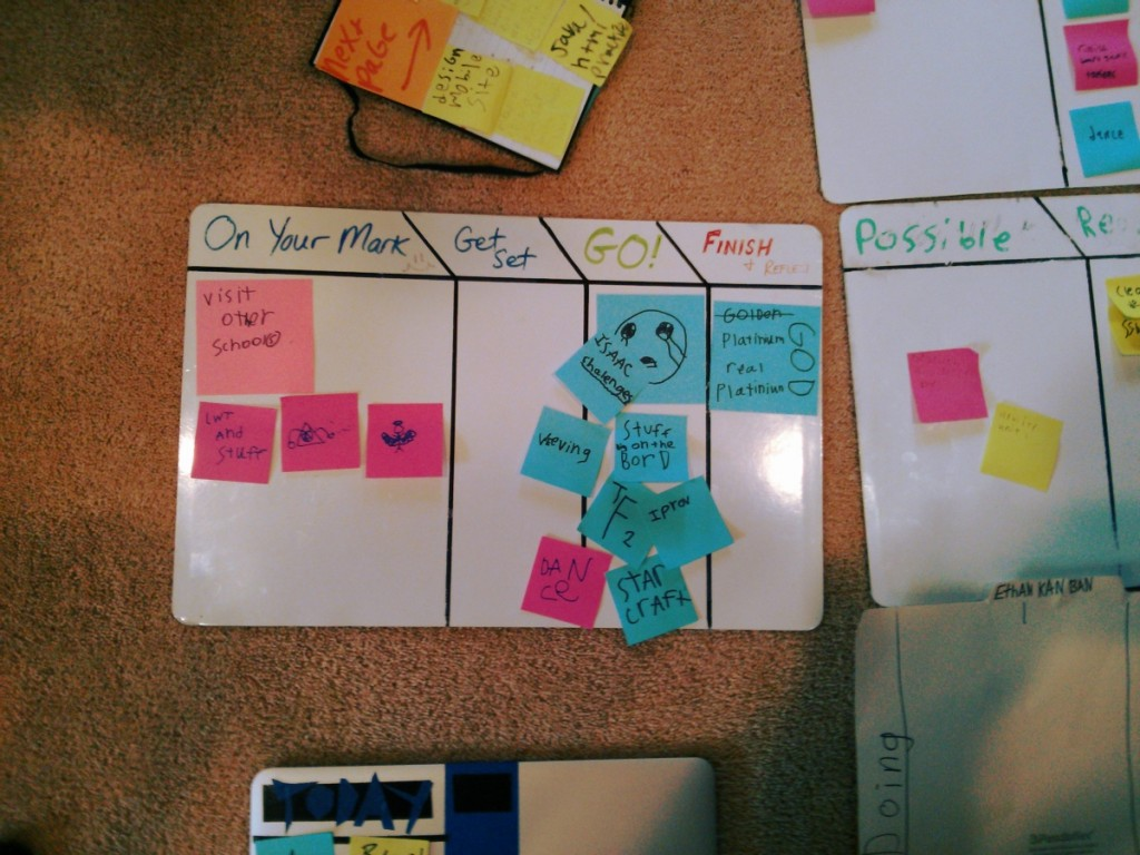 The student kanban is a tool which helps keep track of work in progress